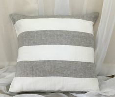 Hey, I found this really awesome Etsy listing at https://www.etsy.com/listing/489389907/grey-and-white-wide-striped-natural
