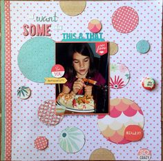 Circle punches and my April Scraptastic Kit
