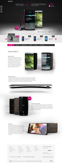 Sony Redesign 2011 by Omar Puig, via Behance