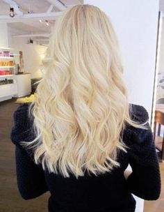 Platinum blonde waves.  Find us at Beauty.com for the finest hair care products!