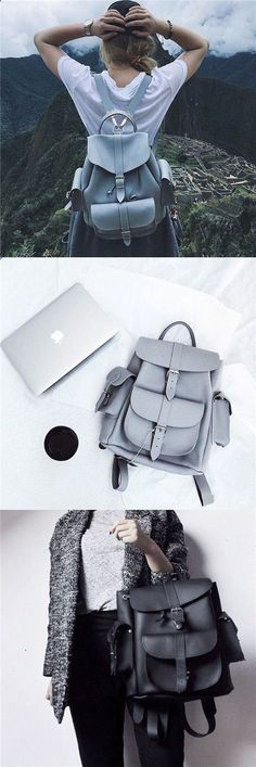 a leather backpack for coming vacation travel! leather backpack for girls fashion school backpack bags for womenGet a leather backpack for coming vacation travel! leather backpack for girls fashion school backpack bags for women Leather Backpacks For Girls, Girl Backpacks, School Backpacks, Best Travel Clothes, Travel Clothes Women, Womens Fashion Online, Fashion Tips For Women, Fashion Ideas, School Fashion