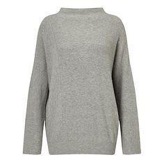 Buy Modern Rarity Patched Rib Jumper, Grey Online at johnlewis.com