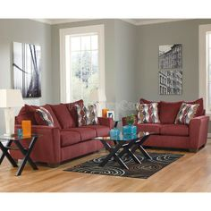 Burgundy Couch Living Room Colors And Room Colors On