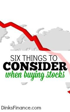 Are you thinking of investing in stocks? If so here are six things you might want to consider before getting started.