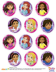 http://www.nickelodeonparents.com/dora-and-friends-cupcake-toppers/
