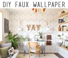 DIY Faux Wallpaper