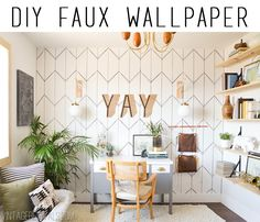 How to DIY Removable Wallpaper