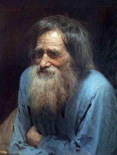 Ivan Kramskoi, Old Man in Blue