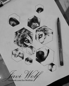 Dibujito rápido de un lobo!:D (pluma negra)
