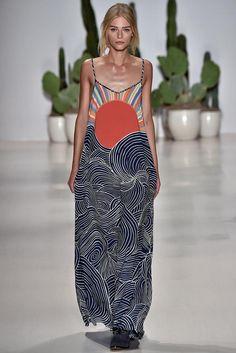 Mara Hoffman Spring 2015 Ready-to-Wear Fashion Show Runway Fashion, High Fashion, Love Fashion, Fashion Show, Fashion Design, Fashion Trends, New Yorker, Creation Couture, Estilo Fashion