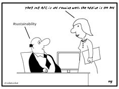 Business Cartoons - A/C #sustainability