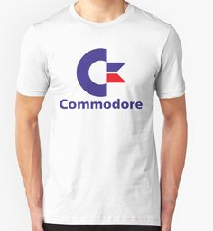 Unisex Commodore Logo T-shirt by Redbubble. Many colors.