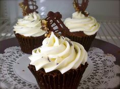 Chocolate and lavendar cupcakes - seems a little unusual combo