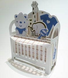 Crib card in a box. File purchased through Etsy by My Casual Whimsy.