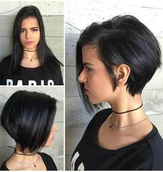 The best collection of Cute Short Bob Haircuts, Latest and best Short bob hairstyles, haircuts, hairstyle trends 2018 year. Short Bob Haircuts, Short Hairstyles For Women, Hairstyles Haircuts, Haircut Short, Girls Shaved Hairstyles, Haircut Bob, Bouffant Hairstyles, Beehive Hairstyle, Wedge Hairstyles