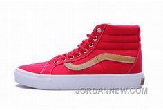 http://www.jordannew.com/vans-sk8hi-red-golden-mens-shoes-for-sale.html VANS SK8-HI RED GOLDEN MENS SHOES FOR SALE Only $74.48 , Free Shipping!