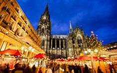 Gallery // 20 picturesque Christmas destinations Cologne, Germany This German city boasts eight different Christmas markets on both sides of the Rhine River. Offering all manner of gift ideas and plenty of glühwein stalls, it's the perfect spot to pick up all those presents.
