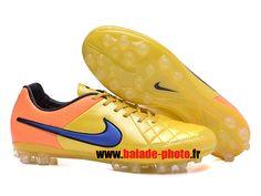 Nike Tiempo Legend Nike Tiempo Legend V AG Chaussures de football Orange Jaune 4561