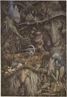 whisperingwillow:  thefae:  Weyland the Smithy by Brian Froud  I ♥ Brain Froud. ☺