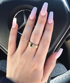 52 Beautiful Nail Art Designs & Ideas- Ombré pink nails