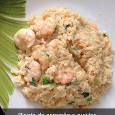 Receita de Risoto de camarão e queijos. Enviada por Ala Ila Moraes e demora apenas 40 MIN.