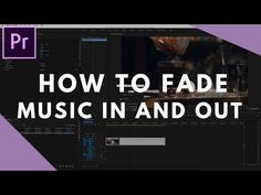 How to Fade Music In and Out in Premiere Pro Adobe After Effects Tutorials, After Effects Intro, Video Effects, Faded Music, Learn Animation, How To Fade, Film Tips, After Effect Tutorial, Videos