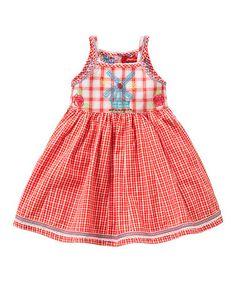 29cc60a29e8e5d Oilily Pink Plaid Windmill Da-Da-Da Dress - Infant, Toddler & Girls
