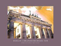 'Berlin - Brandenburger Tor' von Dirk h. Wendt bei artflakes.com als Poster oder Kunstdruck $19.41