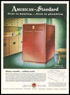 Vintage 1960s Advert Potterton Central Heating Boiler