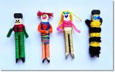We love Worry Dolls, but for children the small size can be dangerous. Here& how we made large worry dolls with our kids. Summer Crafts, Diy And Crafts, Crafts For Kids, Arts And Crafts, Worry Dolls, Hispanic Heritage, Make Your Own, How To Make, Thinking Day