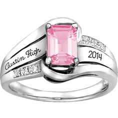 s Emerald Fashion Class Ring Class Rings For Girls, Jewelry Rings, Fine Jewelry, Diamond Jewelry, Jewlery, Gold Jewelry, Senior Rings, School Rings, Walmart Jewelry