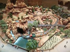 The scale model was created by Walt Disney Imagineering during the design of Big Thunder Mountain Railroad. Photo by Adrienne Vincent-Phoenix.