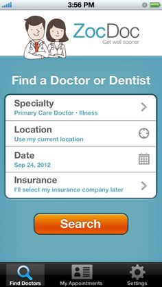 ZocDoc - Doctor Appointments Online! (ios) | AppCrawlr