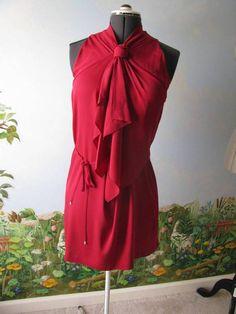 "Diane von Furstenberg DVF ""Morana"" Raspberry Dress Sz 12 $475 NWT #DVF #Cocktail"