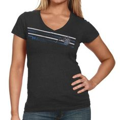 Sportiqe Orlando Magic Ladies Black Abyss Vertical Premium Tri-Blend T-shirt
