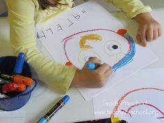 Drawing the five senses by Teach Preschool