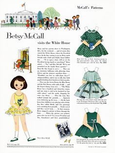 Betsy McCall Paper Dolls 1959