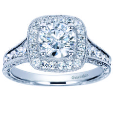 Stay stunning with this Gabriel & Co. Diamond Engagement Ring.