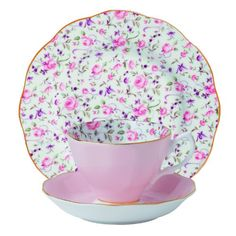 Royal Albert 3-Piece New Country Roses Teacup, Saucer and Plate Set, Rose Confetti Royal Albert http://www.amazon.com/dp/B00BH3FSAQ/ref=cm_sw_r_pi_dp_babZub11F8VWM