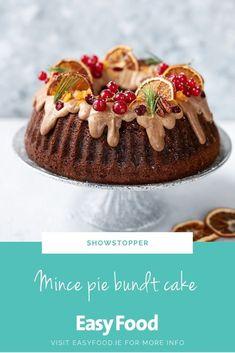 This beautiful bundt cake is just the thing to impress at any Christmas gathering.   #christmasbaking #bundtcake #fruitcake