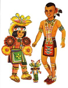 Indian Paper Dolls