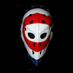 VINTAGE FIBERGLASS STREET ROLLER NHL ICE HOCKEY MASK GOALIE HELMET – Montreal Ken DRYDEN HO17 we