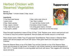 Herbed Chicken with Steamed Vegetables in smartsteamer