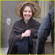 Close up look at Amanda Syfreid happy as Cosette. Just don't know which song this could be. Maybe a heart full of love?