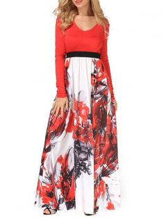 GET $50 NOW | Join RoseGal: Get YOUR $50 NOW!http://m.rosegal.com/maxi-dresses/v-neck-flower-painting-maxi-960177.html?seid=7914158rg960177