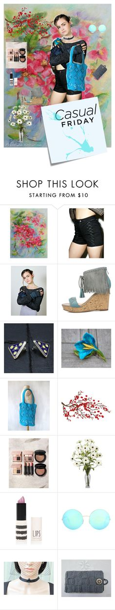 """""""Casual Friday"""" by black-passion ❤ liked on Polyvore featuring Tripp, Bobbi Brown Cosmetics, Topshop, Victoria Beckham and Post-It"""