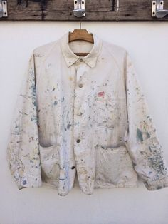 SANFORIZED: BOSS UNION MADE | Paint marked work jacket | Worn