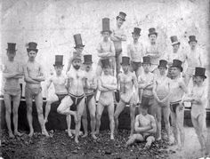 Vintage Group Photographs of Members of the Brighton Swimming Club in the 19th Century