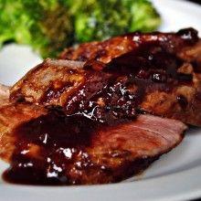 Chipotle Pomegranate Glazed Roasted Pork Tenderloin