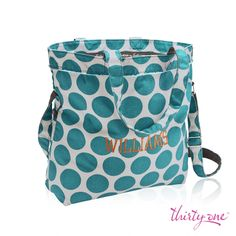 Make it Teal Mod Dot and keep it functional with our Retro Metro Fold-over.